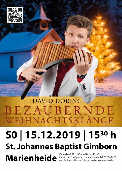 """Eintrittskarte Advents-Konzert """"Bezaubernde Weihnachtsklänge"""" 15.12.2019"""
