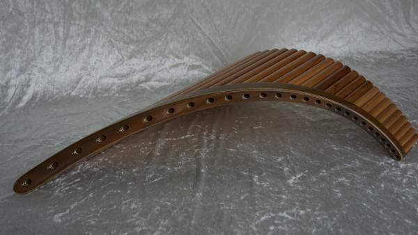 Meister Panflöte 27 Rohre, C-Dur, Birnbaum, mit Koffer